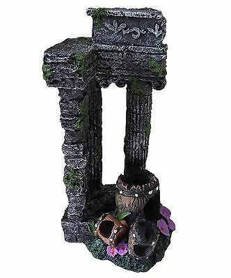 Aquarium Fish Tank Ornament Decoration - Large Columns Ancient Ruins