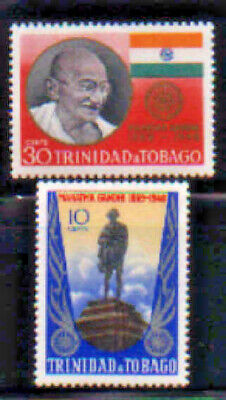 Mahatma Gandhi Honored Trinidad & Tobago #181 - 182 Mint NH 1970 Complete Set