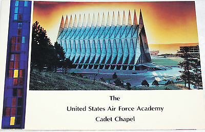 United States Air Force Academy Cadet Chapel Info Booklet USAF Colorado Springs