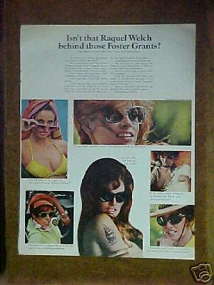 1968 RAQUEL WELCH BANDOLERO 20th CENTURY FOX MOVIE FOSTER GRANTS SUN GLASSES  AD