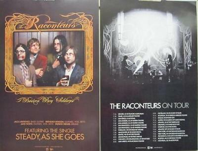 THE RACONTEURS 2008 broken boy soldiers 2 sided promo poster ~NEW old stock~!