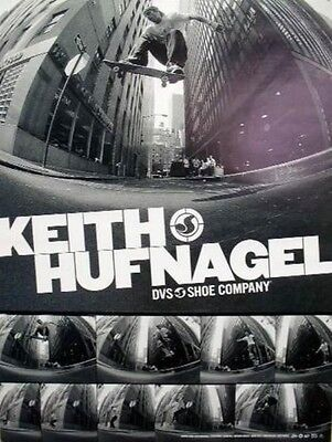 DVS 2003 Keith Hufnagel skateboard promo poster~MINT condition NEW old stock~!