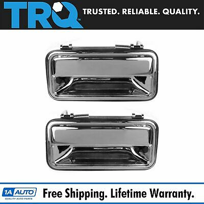 Exterior Door Handle Rear Pair Outer Chrome for Chevy GMC Tahoe Yukon Pickup