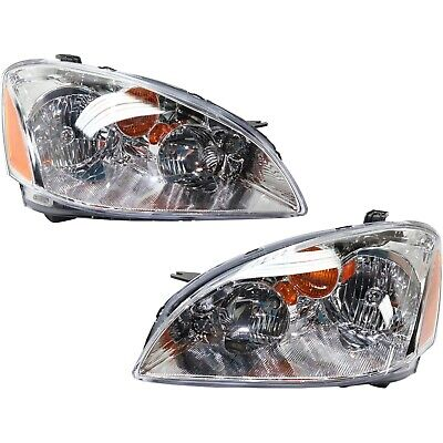 Headlight Set For 2002 2003 2004 Nissan Altima Left and Right With Bulb 2Pc