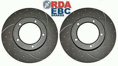 Landcruiser 80 Series HDJ80 2 x Front RDA Slotted and Dimpled  Brake Disc Rotors