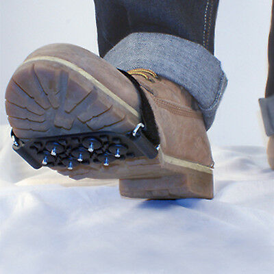 Pair of Studded Stud Spikes Snow, Ice & Frost Over Show & Boots Grip Crampons
