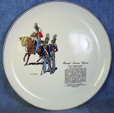 """W.S. George Historical American Uniforms Plate 10"""" - 1st US Dragoon"""