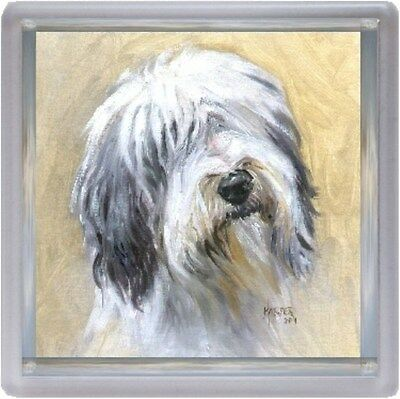 Bearded Collie Dog Coaster No 11 SH by Starprint - Auto combined postage