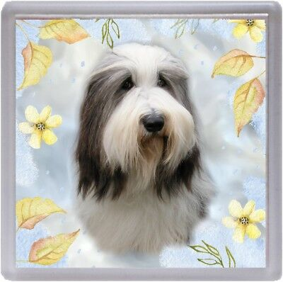 Bearded Collie Dog Coaster No 1A by Starprint - Auto combined postage
