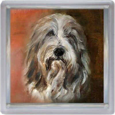 Bearded Collie Dog Coaster No 10 SH by Starprint - Auto combined postage