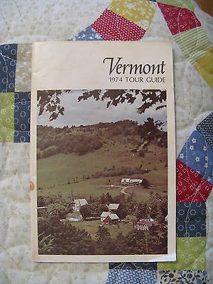 1974 Vermont Tour Guide 47-page booklet, 22 tours with maps