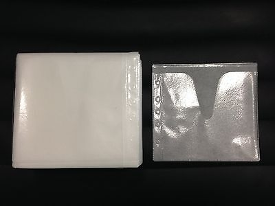 500 White Double Cd Dvd Blu Ray Video Game Plastic Sleeve Envelope Hold 1000