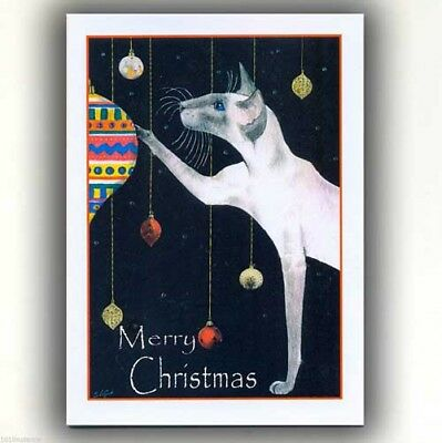 Siamese Cat Baubles From Original Painting Christmas Cards By Suzanne Le Good