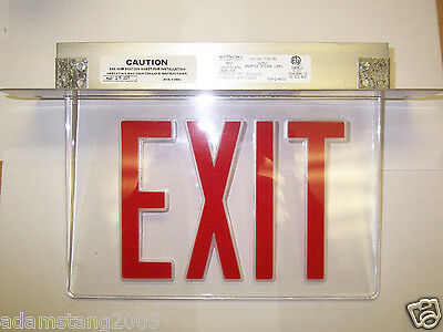 New Mcphiliben T45Vl1Rc Red Led Exit Sign & Housing Fire Alarm