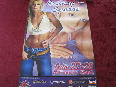 BRITNEY SPEARS Foro Sol Concert poster 16x24