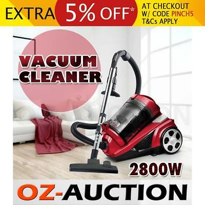 Maxkon Bagless Cyclone Vacuum Cleaner 2800W HEPA Filtration System Red