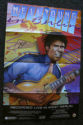 NEIL YOUNG LIVE IN BERLIN 1980's ORIGINAL VHS HOME VIDEO MOVIE CONCERT POSTER