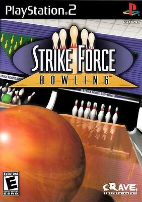STRIKE FORCE BOWLING - Sony PS2 Game! Playstation 2 Black Label Complete