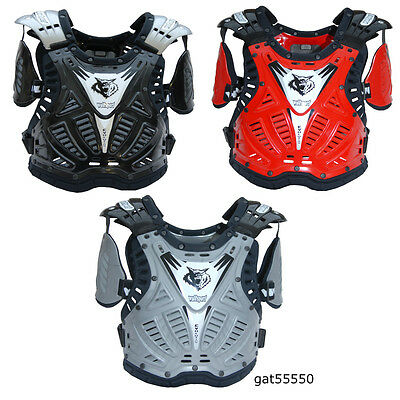 Wulfsport Adult Body Armour Stone Defelector Tabard Motocross Enduro Cr Kx Yz