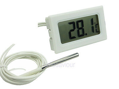 Small High Temperature Celsius C LCD Digital Thermometer With Probe