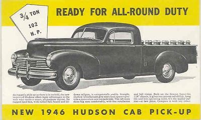 1946 Hudson Pickup Large Factory Postcard mx3055-SLMQCR