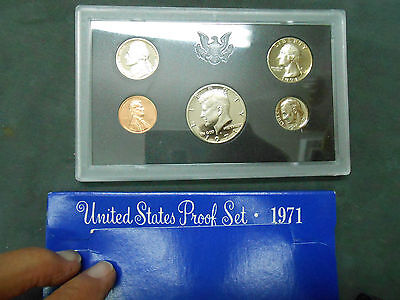 TWO SETS 1971  U S PROOF SET   5 COIN