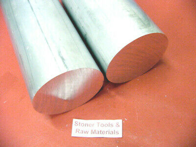 """2 Pieces 3"""" ALUMINUM 6061 ROUND ROD 12"""" long Solid 3.00"""" Lathe Bar Stock NEW"""