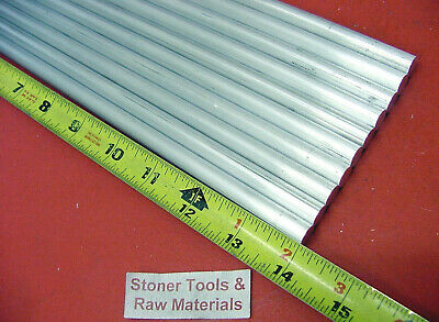 "10 Pieces 1/2"" ALUMINUM 6061 ROUND ROD 14"" long Solid T6 Lathe Bar Stock .50"" OD"
