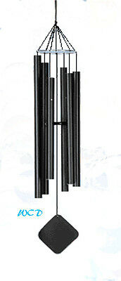 Music of the Spheres Chinese-Mezzo wind chime CM, Powder coated black matte,temp