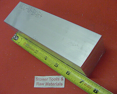"2"" X 2"" ALUMINUM SQUARE 6061 FLAT BAR 7"" long T6511 2.000 SOLID Mill Stock"