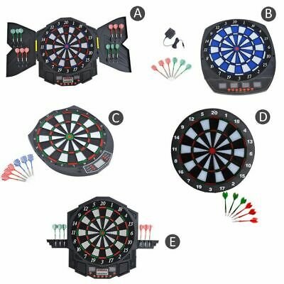 Dart Board Electronic Dartboard Led Score Display Soft Tip Many Games + Darts