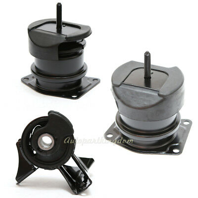 G055 For 00-03 Acura CL TL 3.2L Hydraulic Transmission Engine Motor Mount Set
