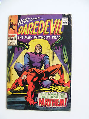 Daredevil # 36 Jan 1968 Cents Copy Marvel Silver Age Comic