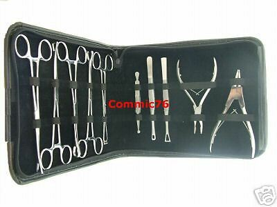 10 Pc. Professional Body Piercing Tools Kit *Stainless Steel CE NEW* Must look