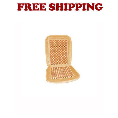Brand New Car Truck Wood Beaded Seat Cool & Comfortable Cushion Color Natural