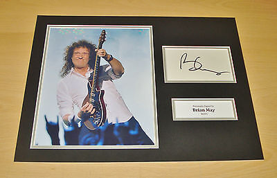 Brian May SIGNED 16x12 Photo Display Genuine AUTOGRAPH Queen Legend + COA