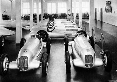1934 Mercedes Benz Silver Arrow Formula 1 Factory Photo J034
