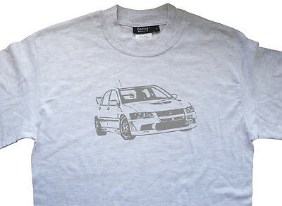 MITSUBISHI Lancer Evo 7 VII Evolution T shirt T-shirt - ALL OPTIONS