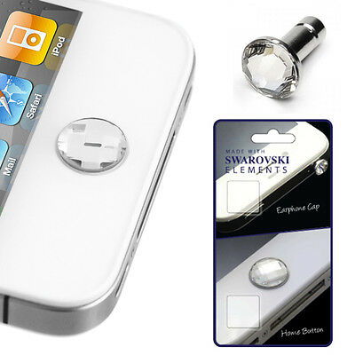3 Pack Crystal Elements Pin & Home Button For iPhone 4/4s,iPhone 5/5S,iPhone 5C