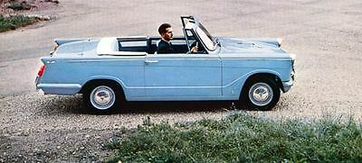 1961 Triumph Herald Coupe & Convertible Factory Photo J1221