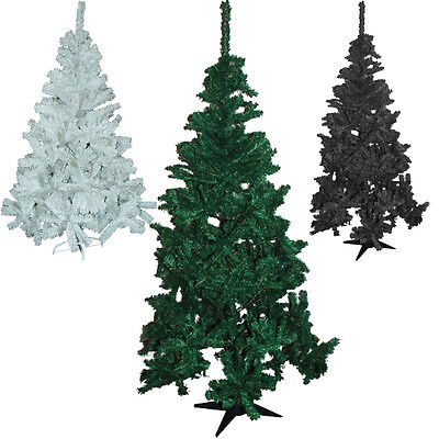 New 6Ft Fern Green Pine Christmas Tree Artificial Xmas Black White 4Ft 5Ft Trees