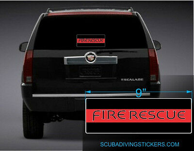 Fire Rescue - Thin Red Line Flag Decal Sticker 100-83