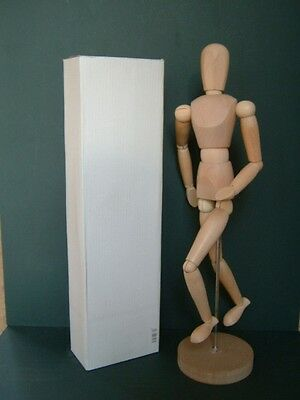 """Adjustable wooden manikin figure for drawing & painting - 12"""""""