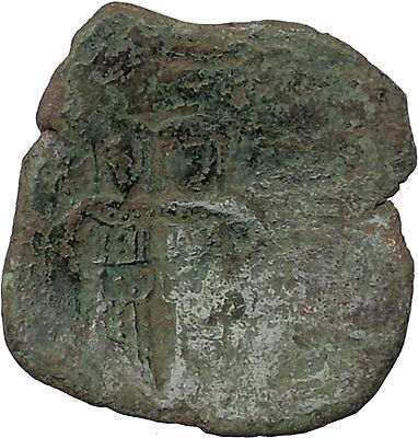 Alexius III Angelus BYZANTINE Coin CHRIST Saint Constantin I the Great  i36148