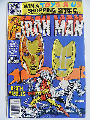 Iron Man # 139 - Oct 80 -  Cents Copy Dreadnoughts!