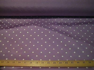 "VIOLET WITH WHITE POLKA DOT TAFFETA FABRIC 62"" WIDE BTY"
