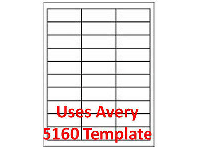 "30 Up Compatible  Laser Labels3,000 1"" x 2 5/8"" Mailing Address 1pk"