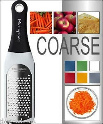 New Microplane Artisan COARSE WHITE Kitchen Zester Grater Hrd Cheese Carrot Choc