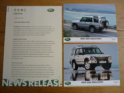 LAND ROVER DISCOVERY PRESS RELEASE BROCHURE jm