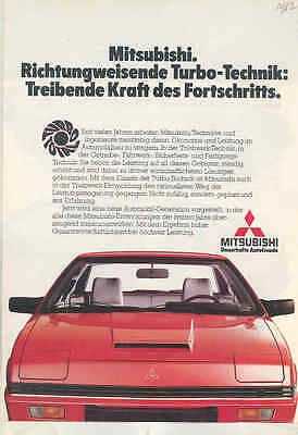 1982 Mitsubishi Starion Sapporo Galant Lancer Colt Turbo Brochure German wt6832